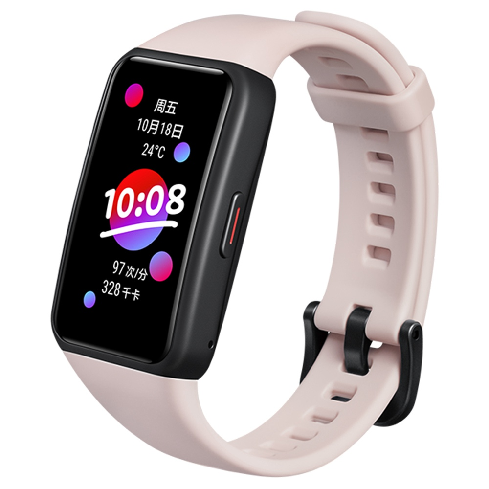 "HUAWEI Honor Band 6 Smart Wristband 1.47 ""AMOLED Οθόνη αφής Οξυγόνο Καρδιακός ρυθμός Παρακολούθηση ύπνου 10 Sport Modes Bluetooth 5.0 5ATM Αδιάβροχο 2 εβδομάδες Διάρκεια μπαταρίας - Ροζ"