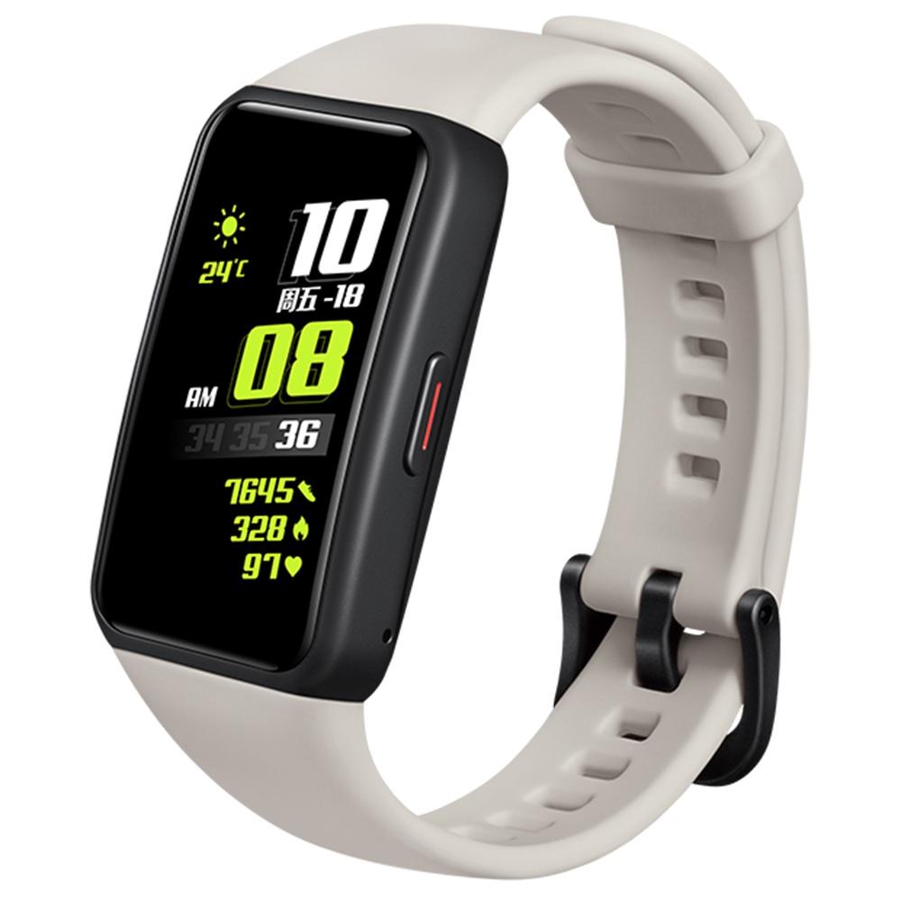 """HUAWEI Honor Band 6 Bracelet intelligent 1.47 """"AMOLED Écran tactile Moniteur de sommeil de fréquence cardiaque d'oxygène sanguin 10 modes sportifs Bluetooth 5.0 5ATM Étanche Durée de vie de la batterie de 2 semaines - Blanc"""