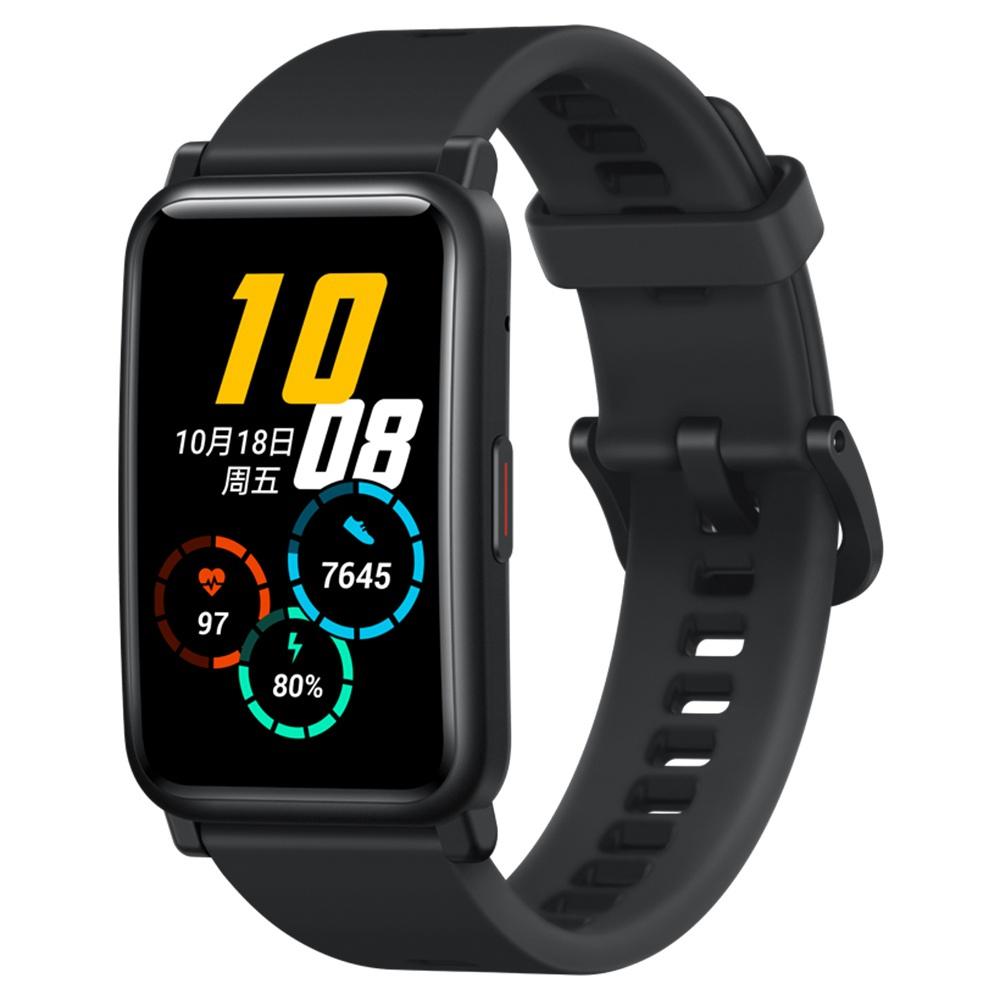 HUAWEI Honor ES Smartwatch 1.64 AMOLED Οθόνη αφής 95 Sports Modes Monitor Οξυγόνο αίματος Καρδιακός ρυθμός Πίεση Bluetooth 5.1 5ATM Αδιάβροχο - Μαύρο
