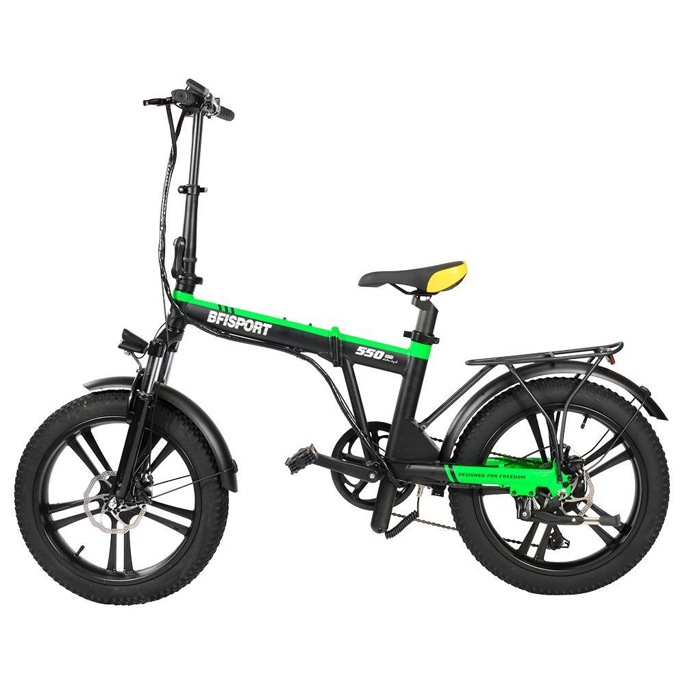 BFISPORT BFI-20 Складной электрический горный велосипед 20 дюймов 3.0 Fat Tire 250 Вт Мотор 6.4 Ач Дисплей батареи LG Макс.скорость 25 км / ч до 30 км - черный зеленый