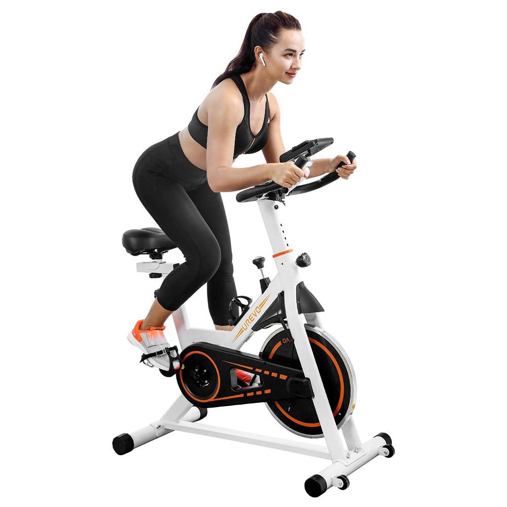 UREVO vélo de cyclisme intérieur vélo d'exercice stationnaire Fitness spinning vélo pour la maison cardio entraînement vélo entraînement esprit