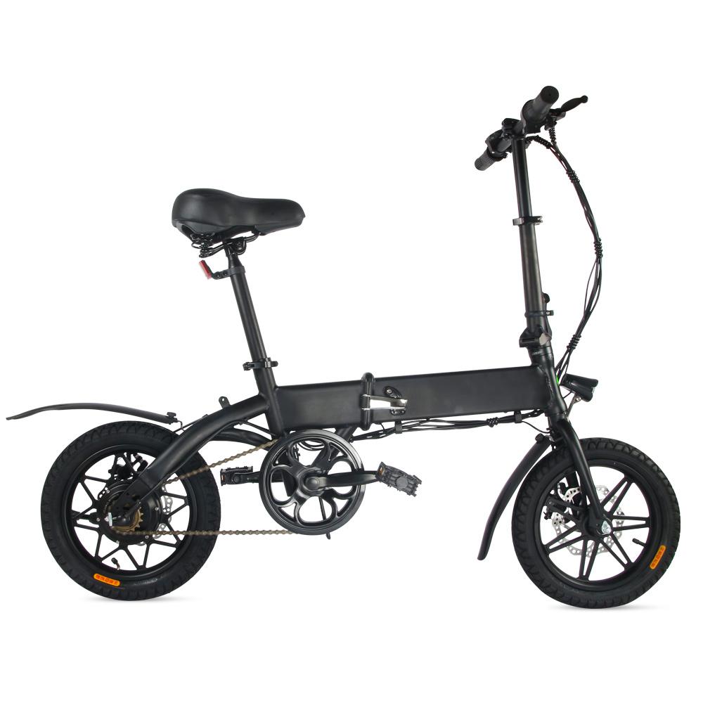 Megawheels EB07 Складной электрический велосипед 14 дюймов 7.5 Ач Батарея 250 Вт Мотор 3 режима скорости до 20 км - черный