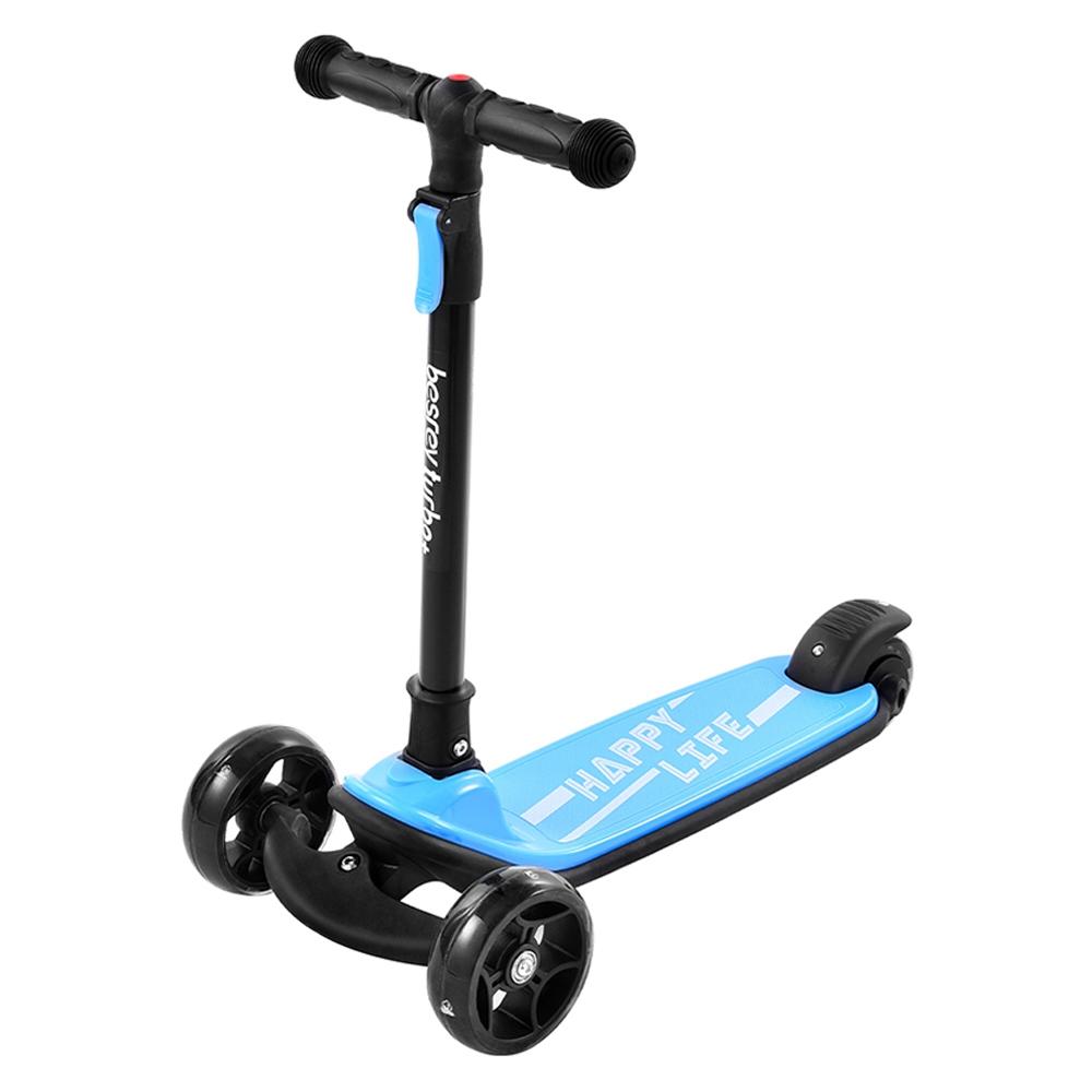 Kick Scooter Glide robogó extra széles PU világító kerekekkel és 4 állítható magassággal 3-12 éves gyermekek számára
