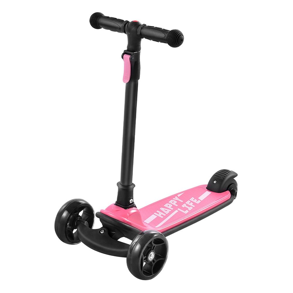 Kick Scooter Glide robogó extra széles PU világító kerekekkel és 4 állítható magassággal 3-12 rózsaszínű gyermekek számára