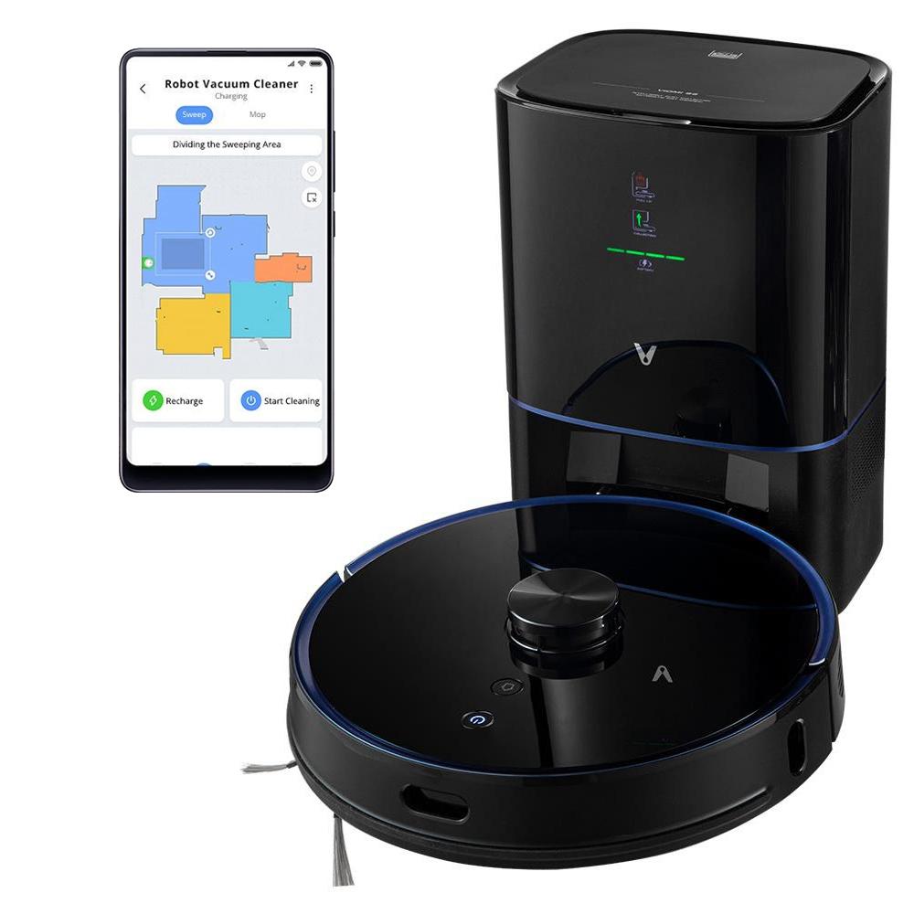 Xiaomi VIOMIS9ロボット掃除機とインテリジェント集塵機統合スイープとモップ2700Pa強力な吸引LDSレーザーナビゲーション220分の実行時間250ml電気水タンクMijiaAPPコントロール-黒