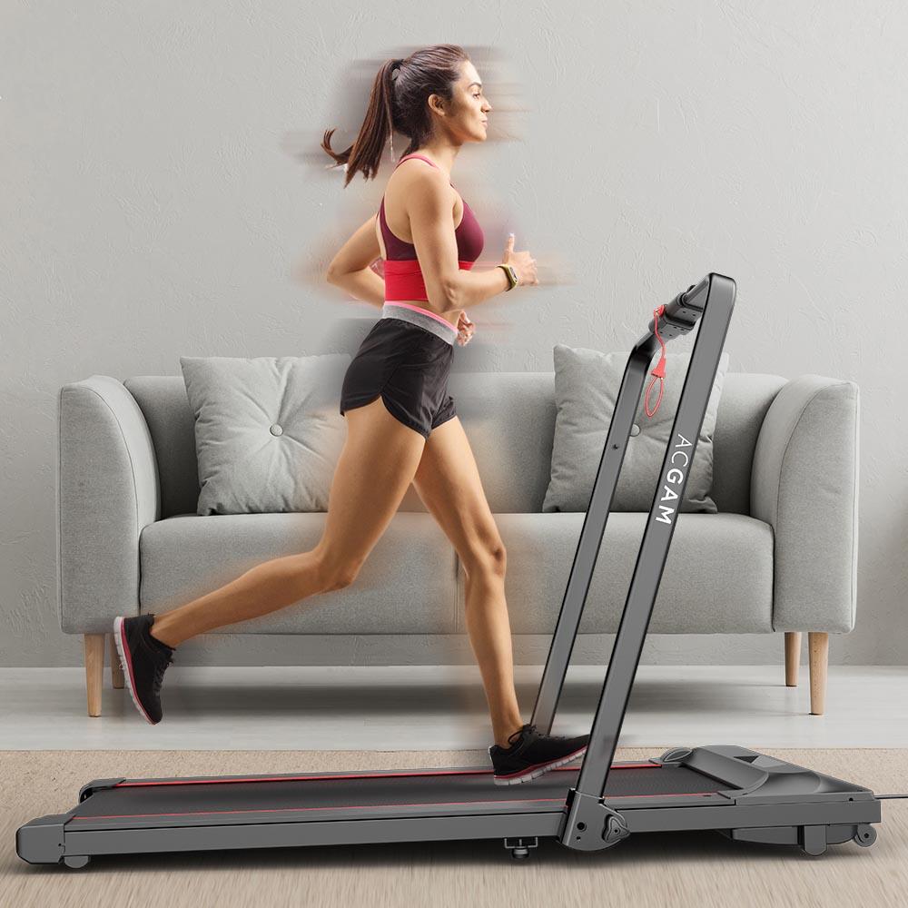 ACGAM T02P Smart Walking Machine 2-in-1-Laufband zum Laufen und Laufen für Training, Fitness-Trainingsgeräte, Bewegung im Innen- und Außenbereich mit Fernbedienung, LED-Anzeige - EU-Version