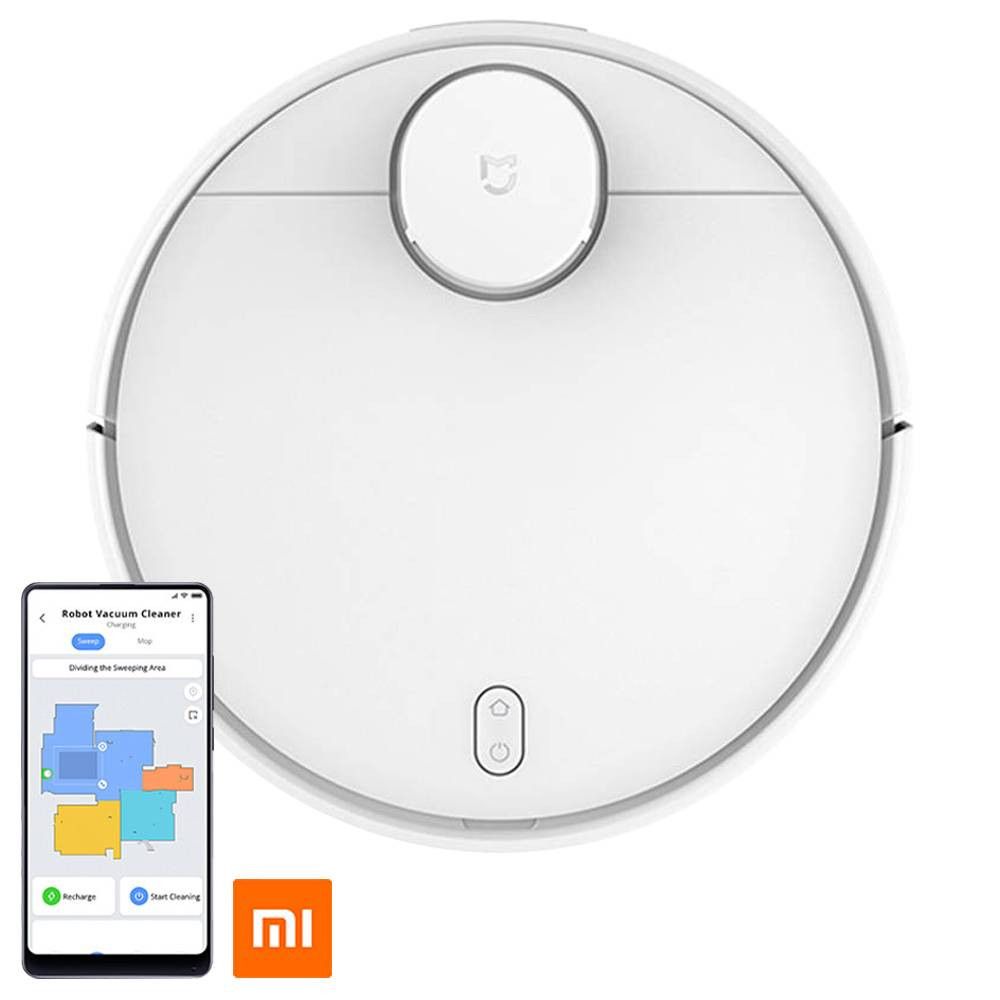 Xiaomi Smart Robot Vacuum Cleaner Elite Version 2100Pa Suction 550ml Electric Water Tank 3200 mAh Battery LDS Laser Navigation APP Control Voice Broadcast Three Modes - White