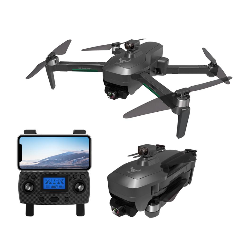 ZLL SG906 MAX 4K GPS 5G WIFI FPV 3 tengelyes EIS rázkódásgátló gimbal akadályok elkerülésére kefe nélküli RC drón - két elem táskával