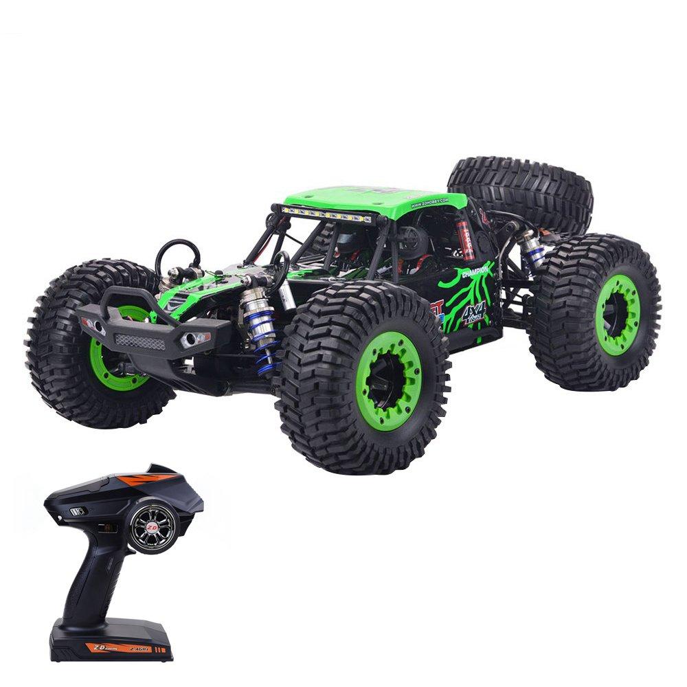 ZD Racing DBX-10 2.4G 1/10 4WD 80km / h Desert Truck Off Road Brushless RC Car - Vert avec pneu de secours
