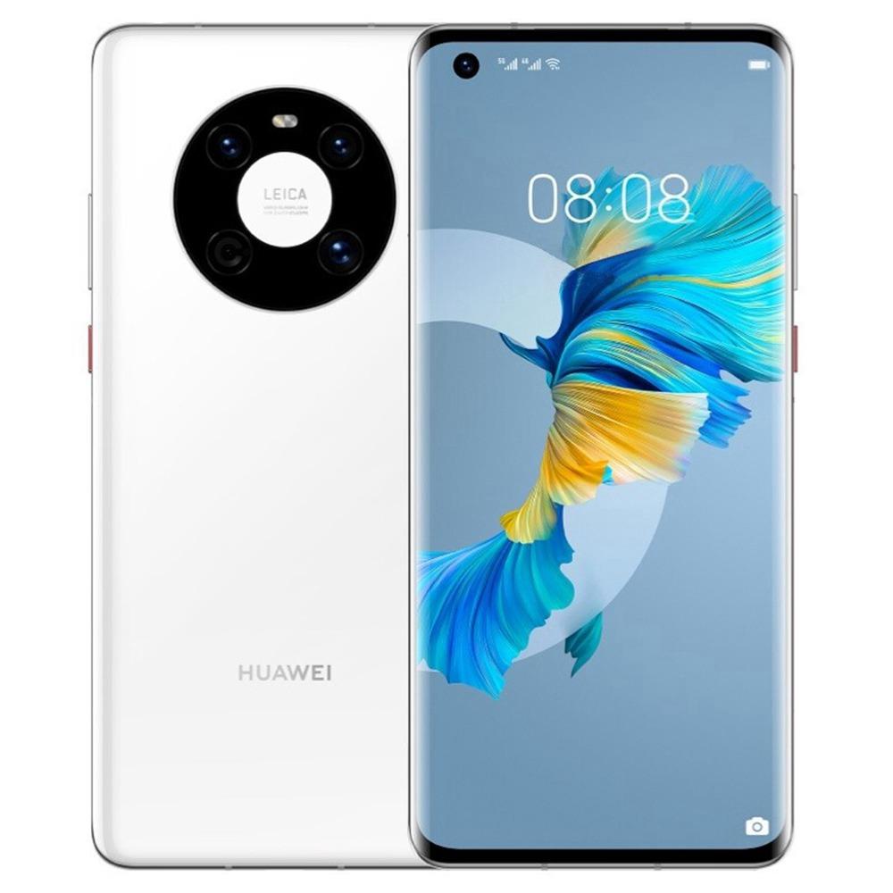 Huawei Mate 40 CN-versie 5G Smartphone 6.5 Inch Kirin 9000E Octa Core 8GB 128GB 50MP achteruitrijcamera 40W snelladen - wit
