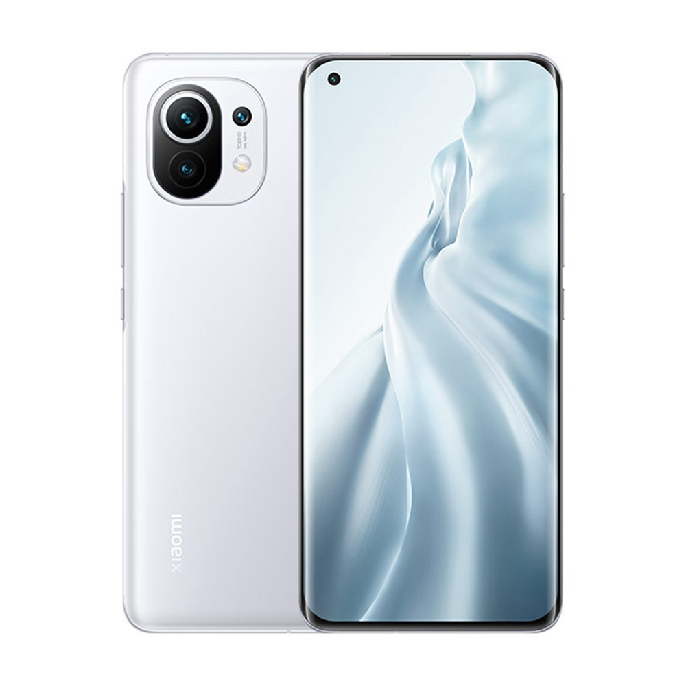 Xiaomi Mi 11CNバージョン6.81インチ5GスマートフォンSnapdragon888 8GB RAM 128GB108MPカメラ4600mAhMIUI12-ホワイト