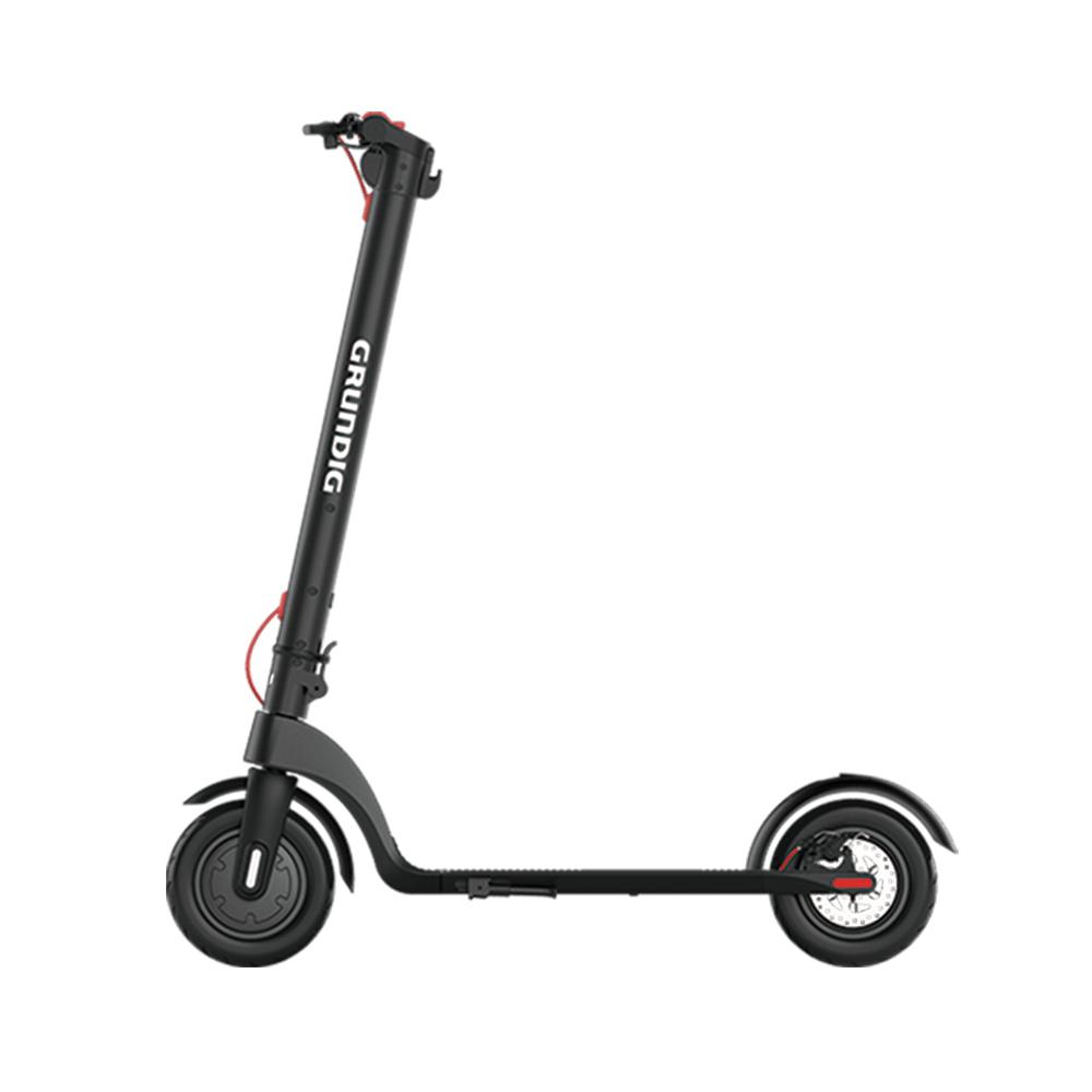GRUNDIG X7 Электрический складной скутер 6.4 Ач Батарея 350 Вт Мотор Максимальная скорость 25 км / ч Алюминиевый корпус 10-дюймовая пневматическая шина 3 режима скорости - черный