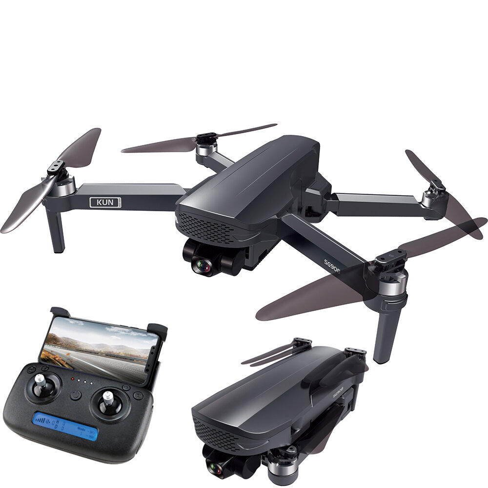 ZLL SG908 4K GPS 5G WIFI FPV with 3-Axis Gimbal Optical Flow Positioning Brushless RC Drone - Two Batteries with Bag