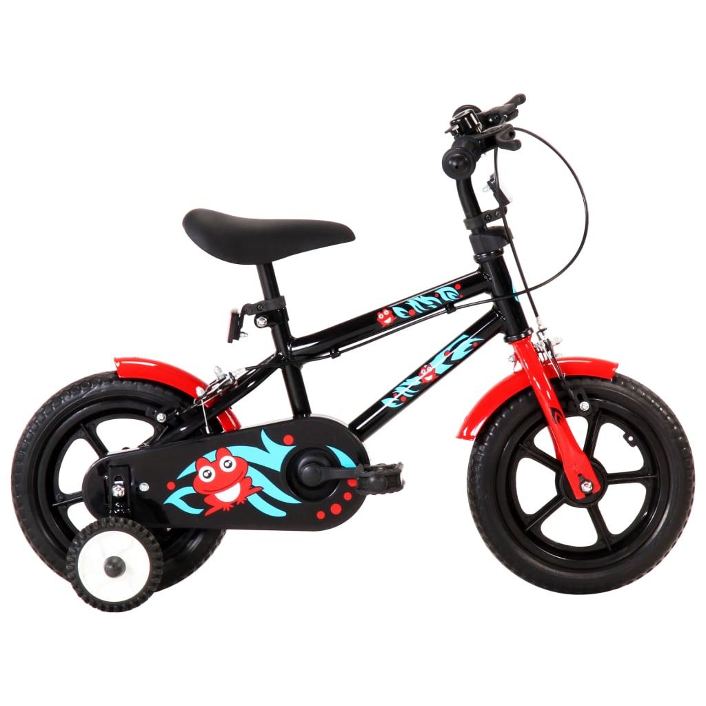 Vélo enfant 12 pouces noir et rouge