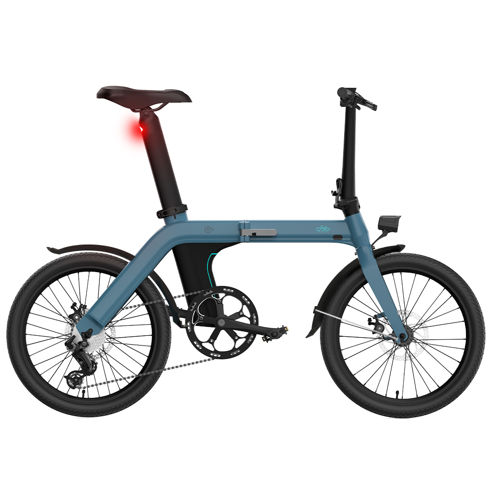 FIIDO D11 Vélomoteur électrique pliant Vélo 20 pouces Pneu 25 km / h Vitesse maximale Trois modes Batterie au lithium 11.6AH Portée de 100 km Siège réglable Freins à double disque avec écran LCD + ailes - Bleu