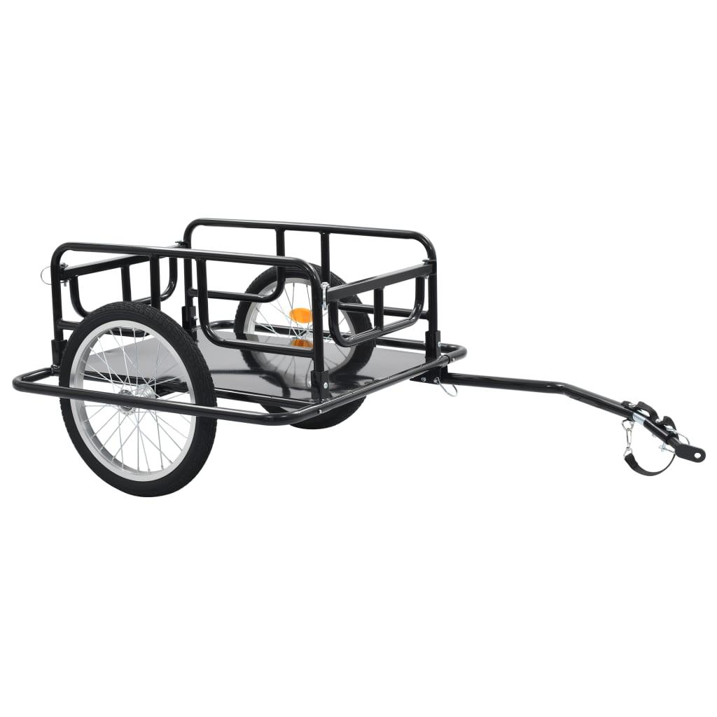 バイクカーゴトレーラー130x73x48.5cmスチールブラック