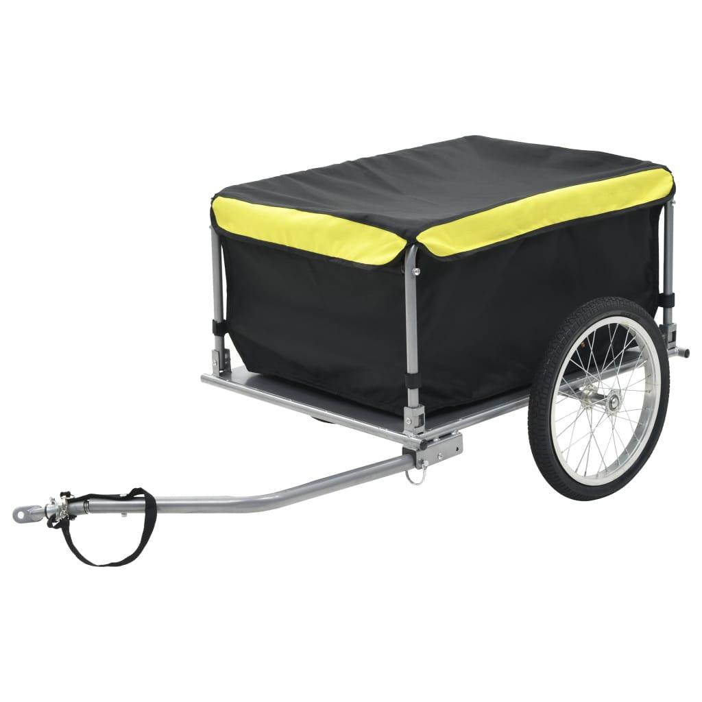 バイクカーゴトレーラー黒と黄色65kg