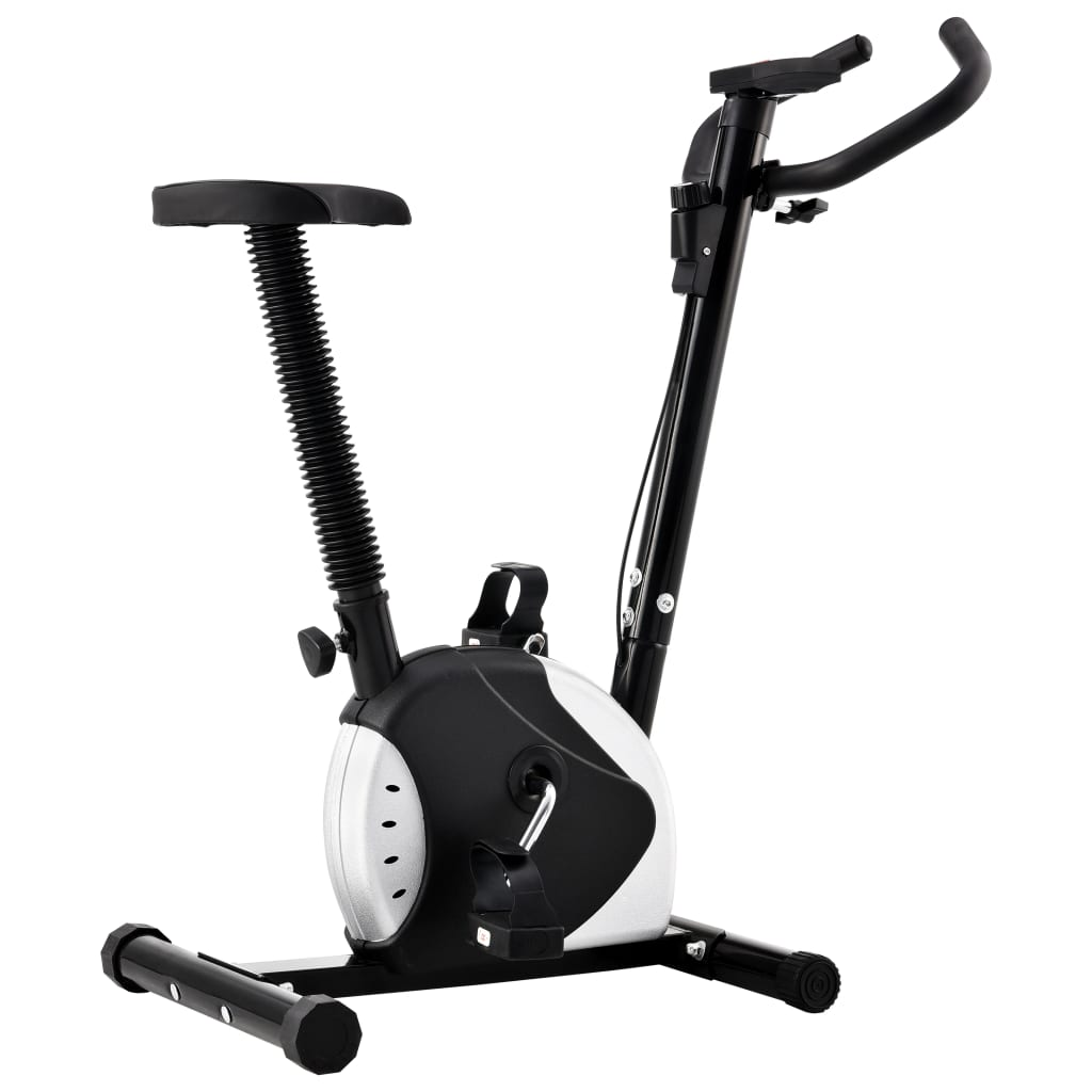 Exercise Bike with Belt Resistance Black