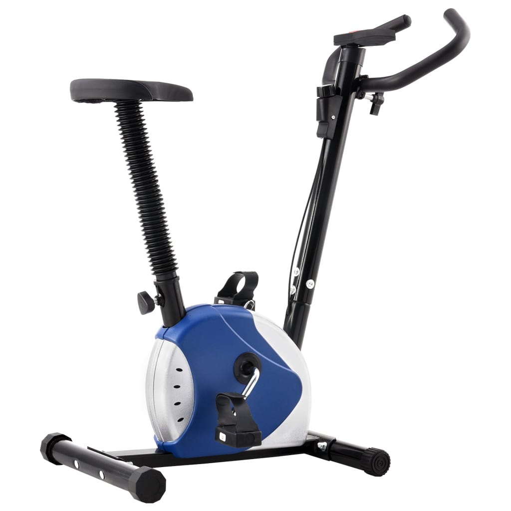 Exercise Bike with Belt Resistance Blue