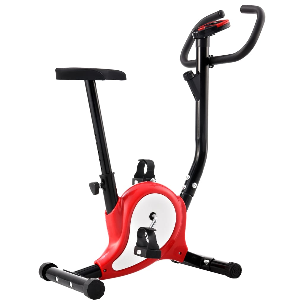 Exercise Bike with Belt Resistance Red
