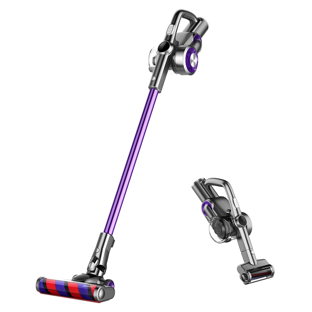 JIMMY H8 Pro Lightweight Smart Handheld Cordless Vacuum Cleaner 160AW 25000Pa Strong Suction,500W Motor,70 minutes Running Time,Auto Power Adjust LED Display Removable Battery Anti-winding With Stand Base for cleaning floors, furniture by Xiaomi