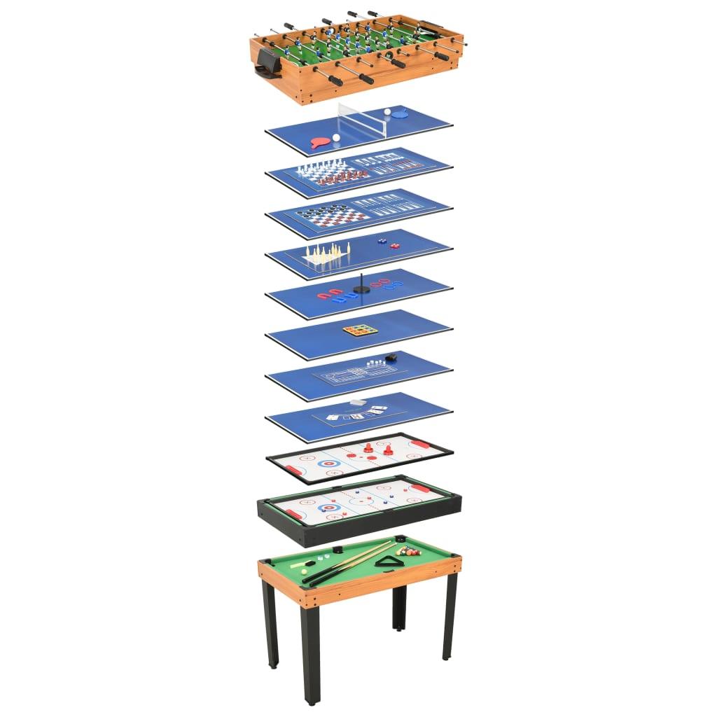 15-in-1 Multi Game Tisch 121x61x82 cm Ahorn