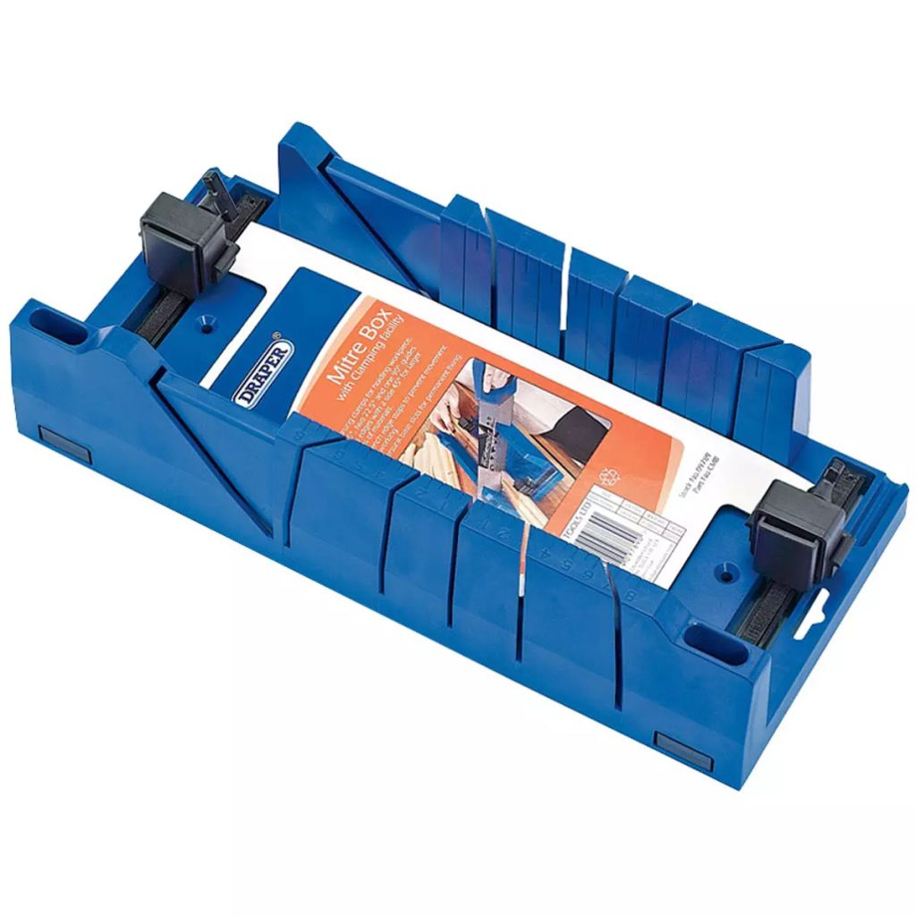 Draper Tools Expert Mitre Box with Clamping Facility Blue 09789