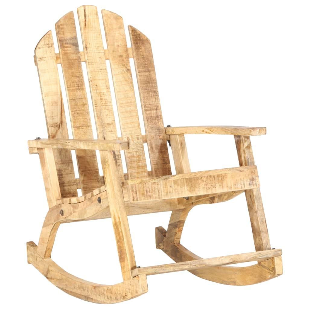 Cadeira de balanço de jardim em madeira maciça de manga