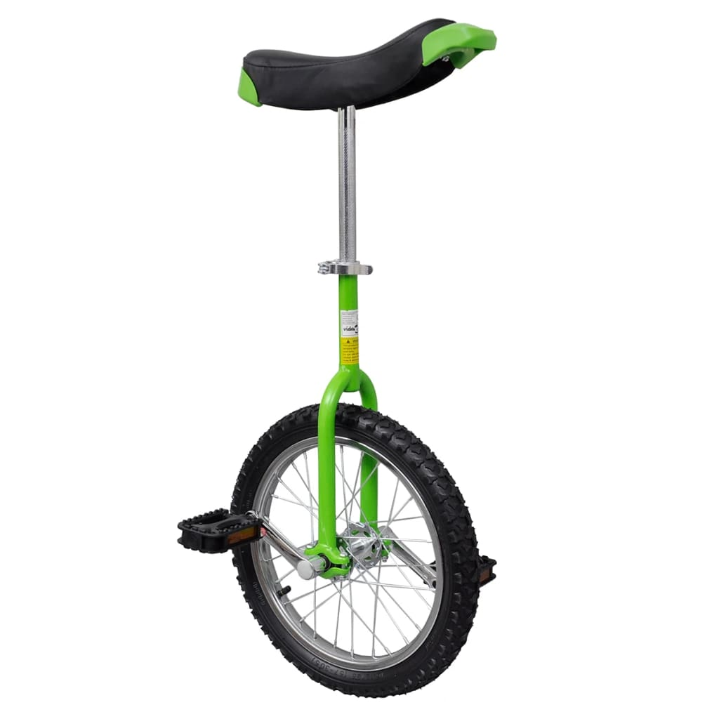 Green Adjustable Unicycle 16 Inch