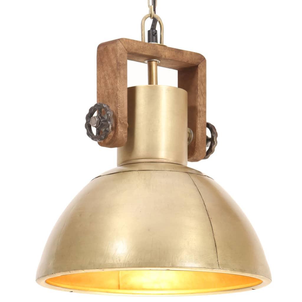 โคมแขวนอุตสาหกรรม 25 W ทองเหลืองกลม 30 ซม. E27