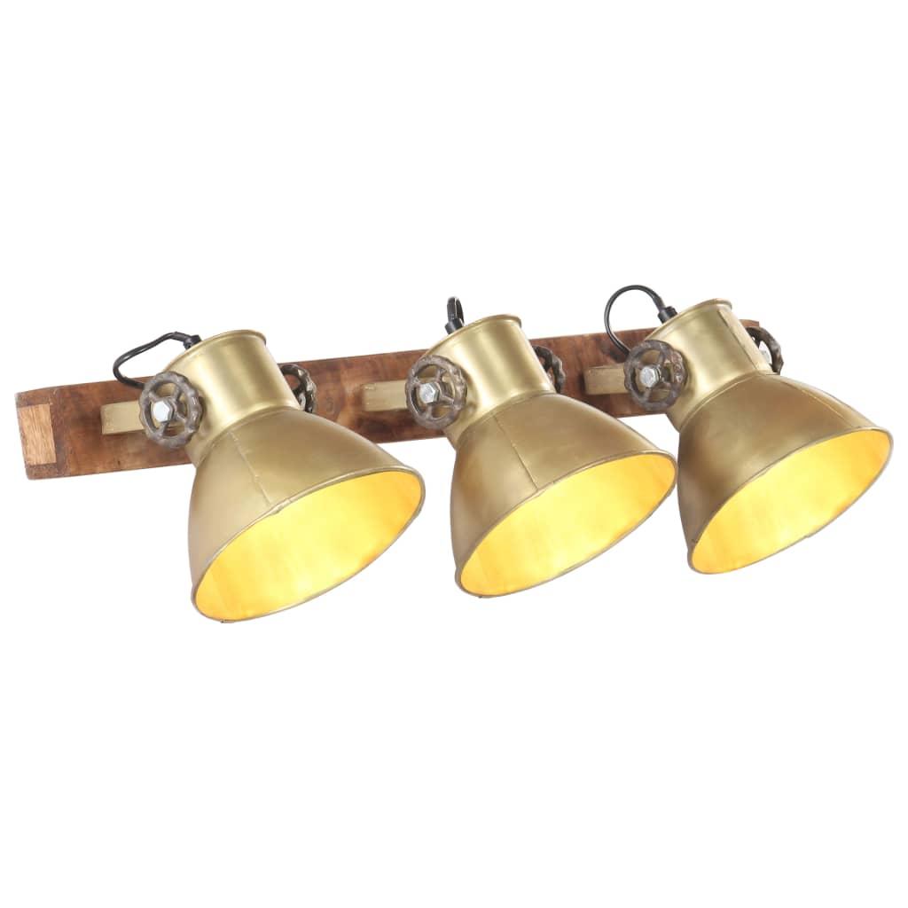 Industrial Wall Lamp Brass 65x25 cm E27