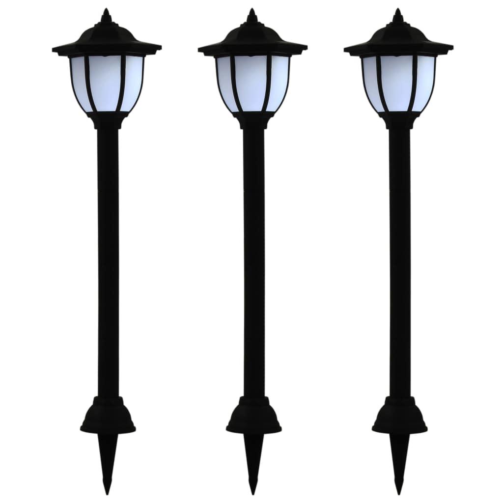 Уличные солнечные лампы, 3 шт., Черный светодиод