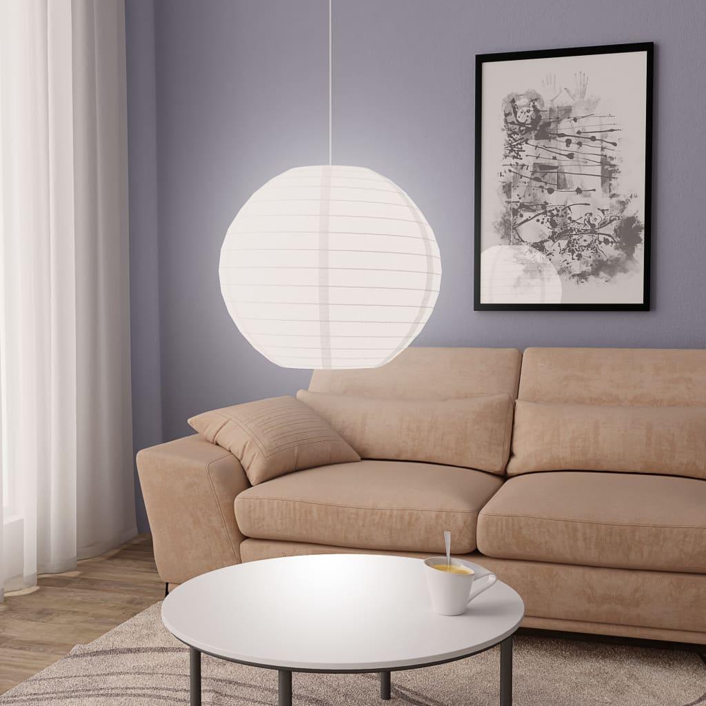 Lampada a sospensione bianca Ø60 cm E27