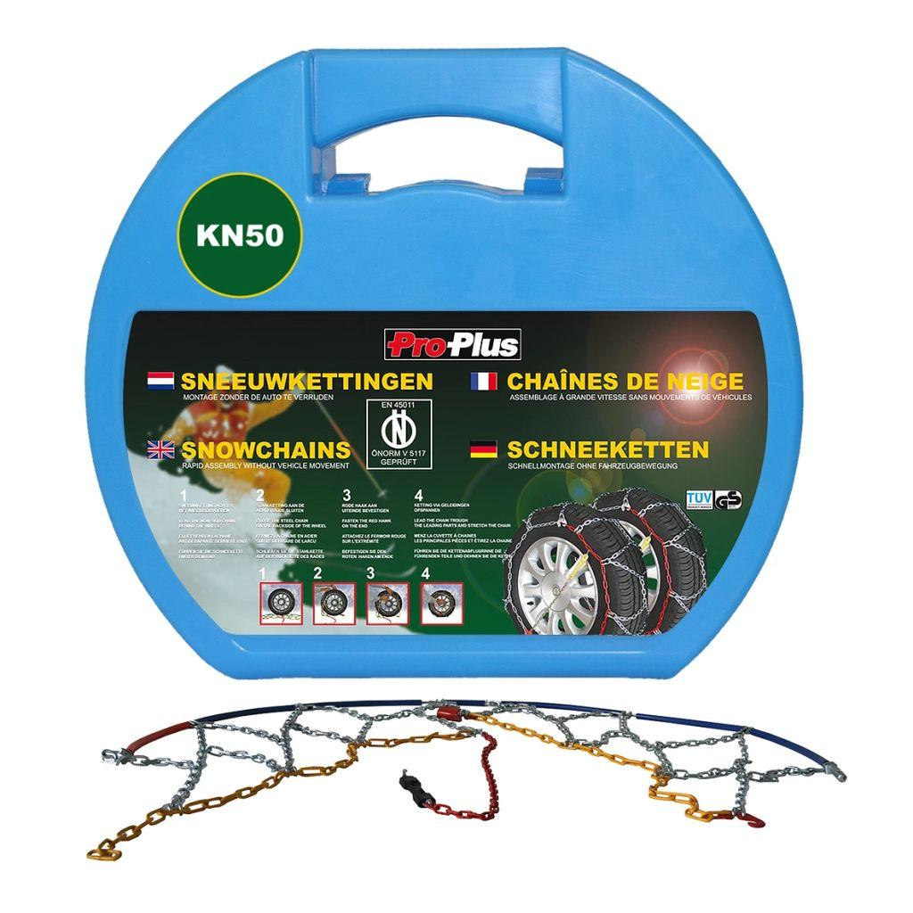 Correntes de neve ProPlus para pneus de carro 12 mm KN50 2 unidades
