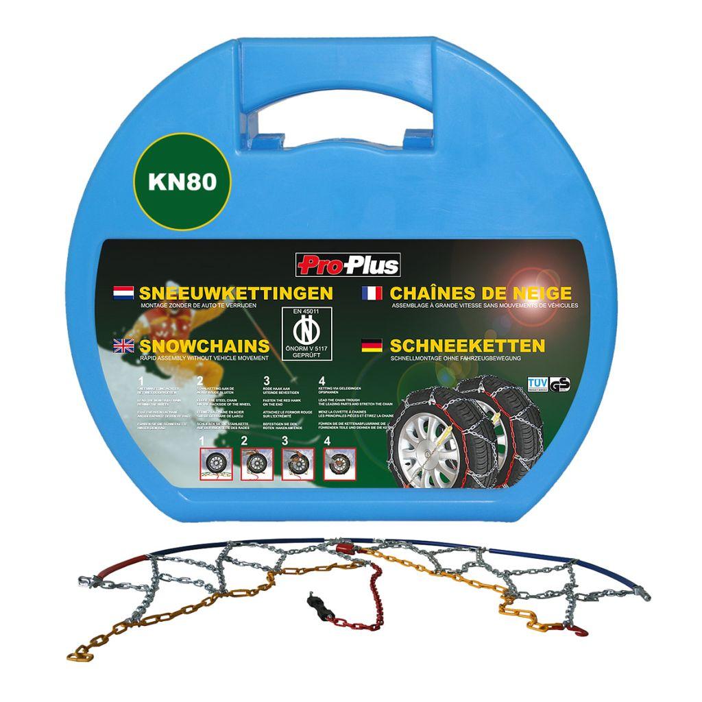 Chaînes neige pour pneus de voiture ProPlus 12 mm KN80 2 pcs