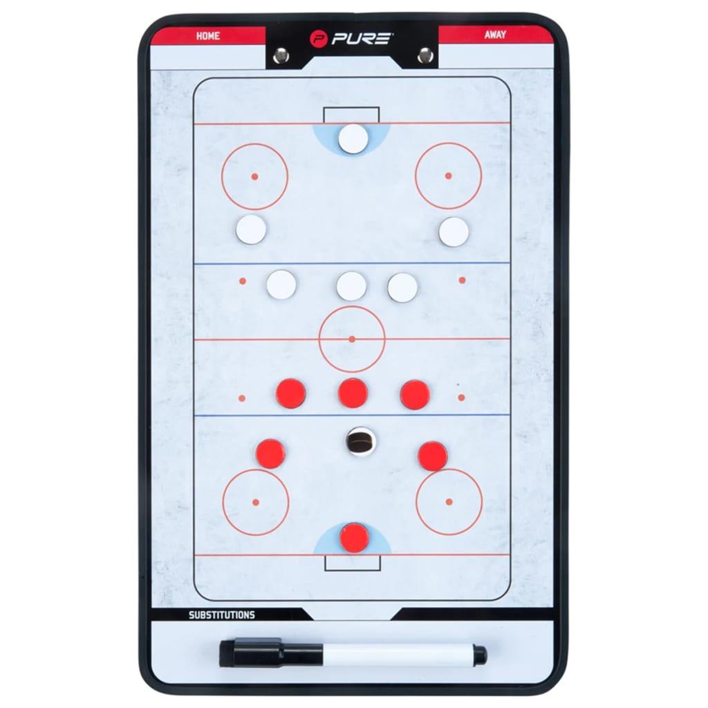 Pure2Improve Tablero entrenador doble cara Hockey sobre hielo 35x22 cm P2I100640