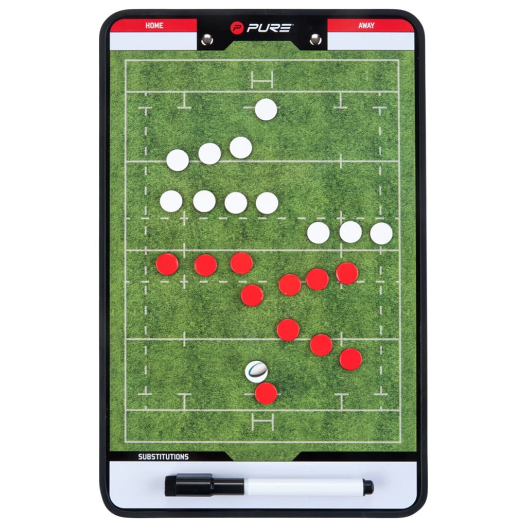 Pure2Improve Tablero entrenador doble cara Rugby 35x22 cm P2I100670