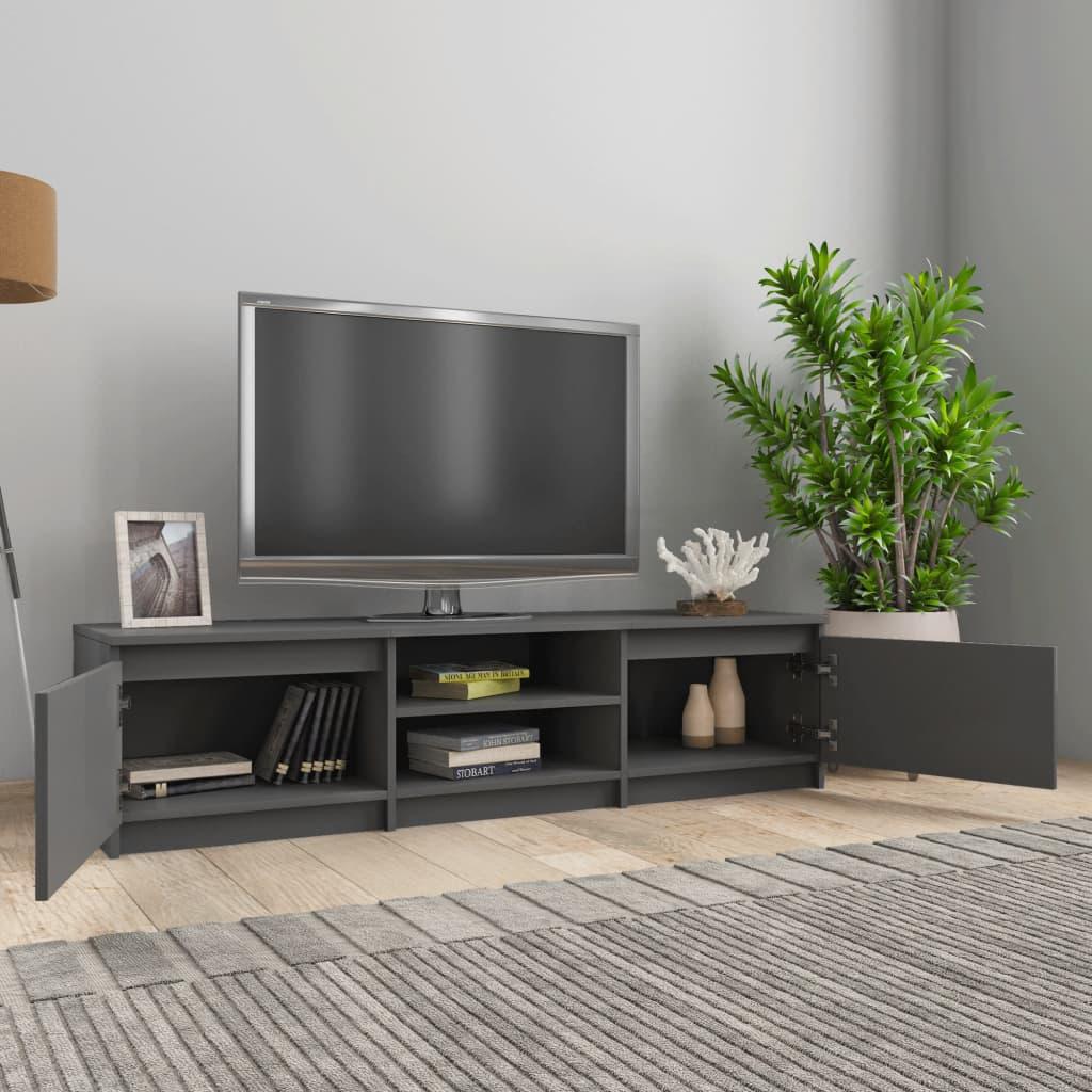 Meuble TV Gris 140x40x35.5 cm Aggloméré