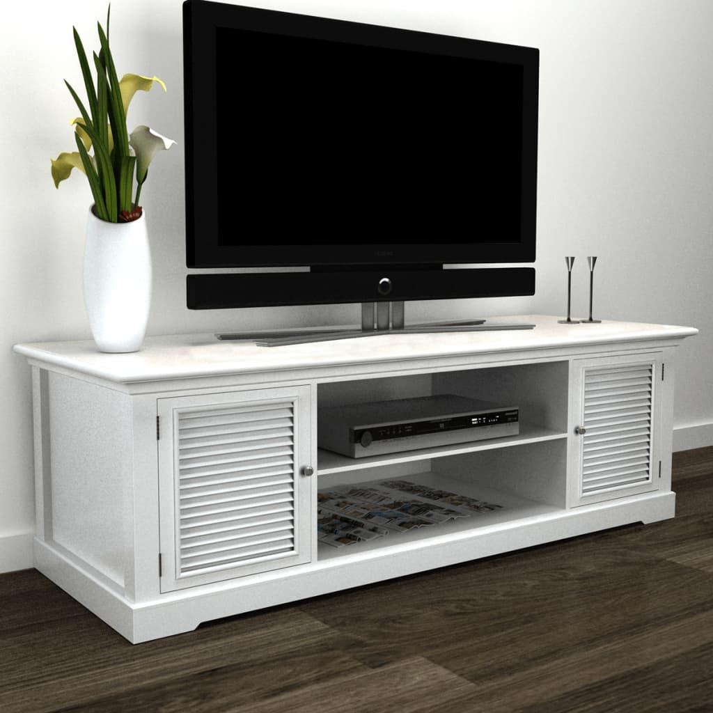 Meuble TV en bois blanc