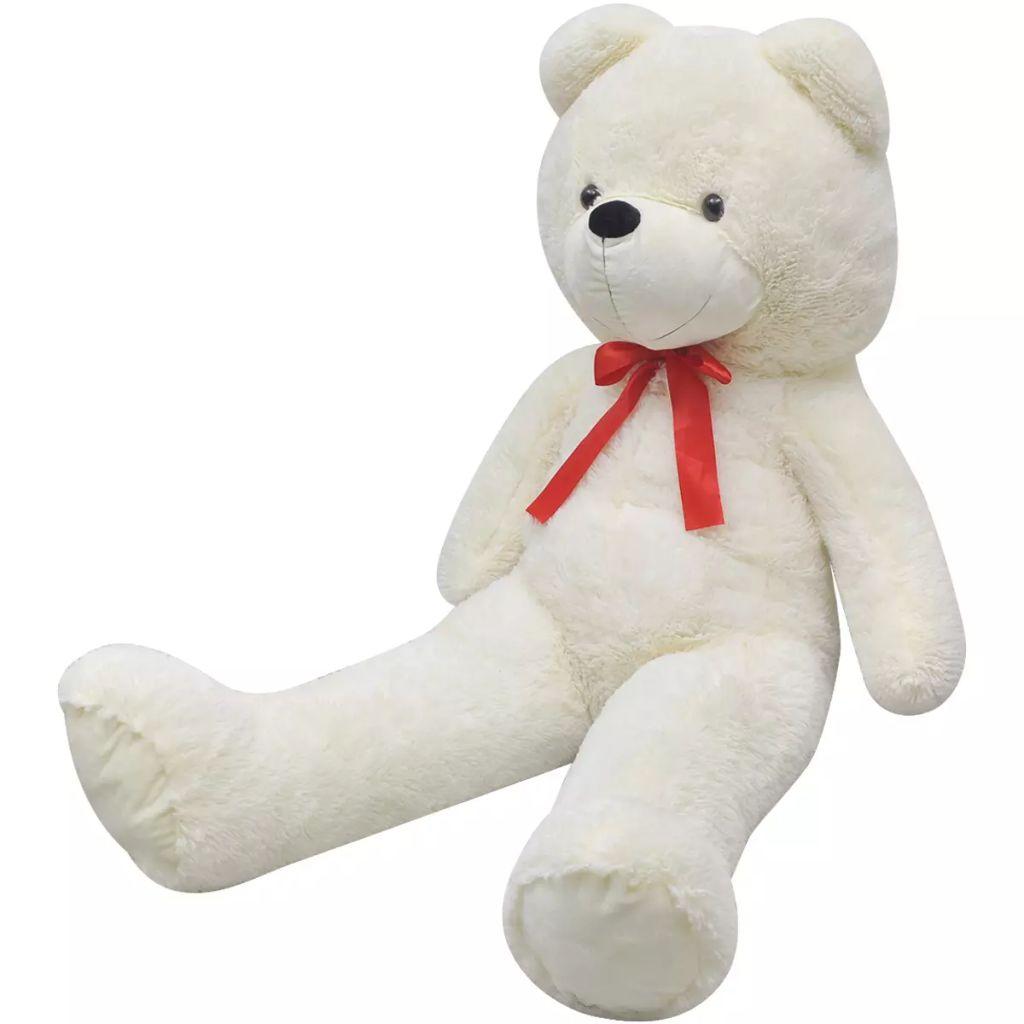 Ursinho de pelúcia de pelúcia XXL branco de brinquedo 85 cm