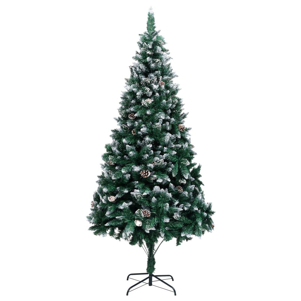 松ぼっくりと白い雪240cmの人工的なクリスマスツリー