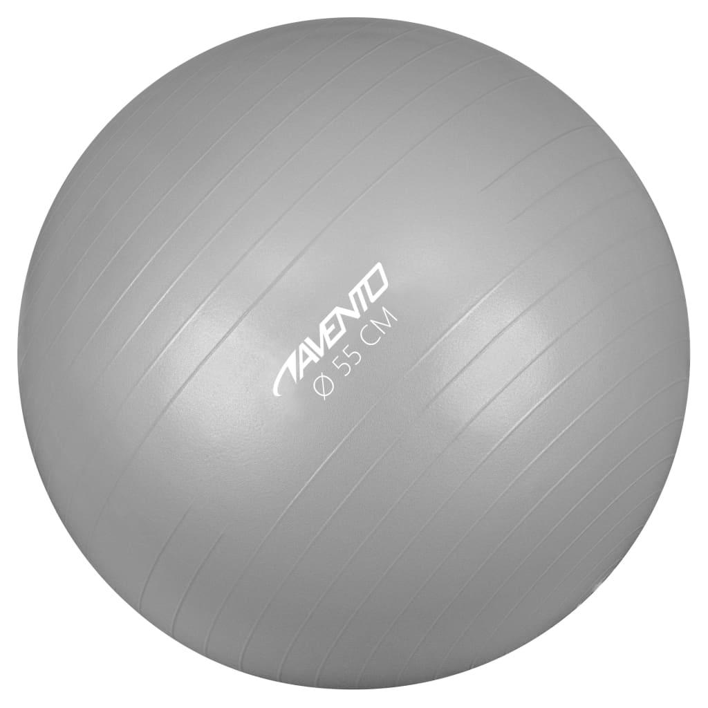 Avento Fitness / Gym Ball Dia. 55 εκ. Ασημί