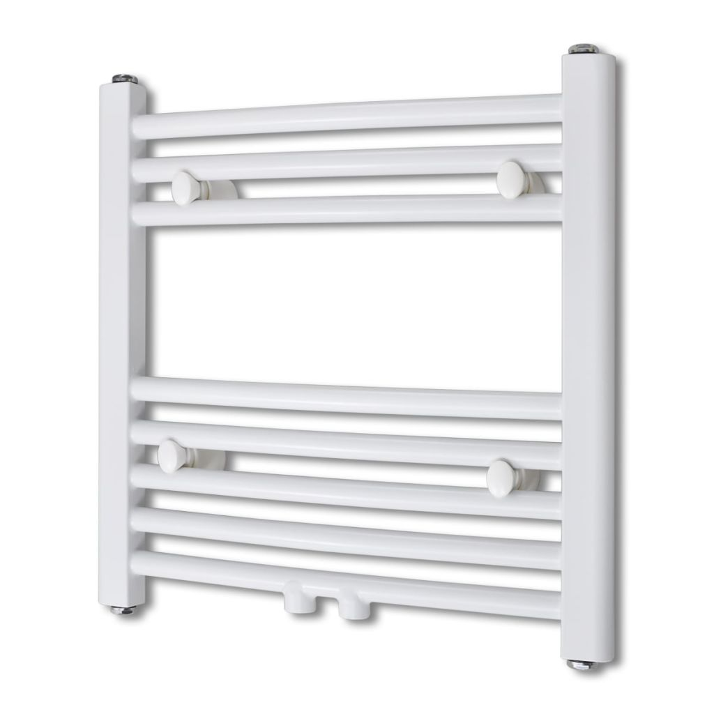 Radiateur de salle de bain Sèche-serviettes de chauffage central courbe 480 x 480 mm