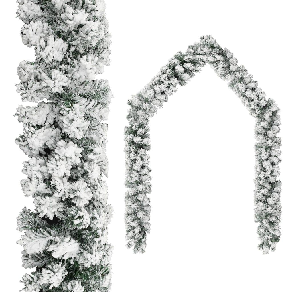 Guirlande de Noël avec Flocked Snow Green 20 m PVC