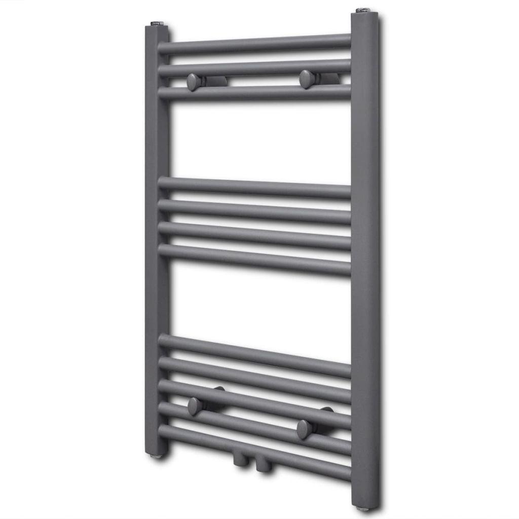 Серый радиатор вешалки для полотенец центрального отопления ванной комнаты прямой 500кс764мм