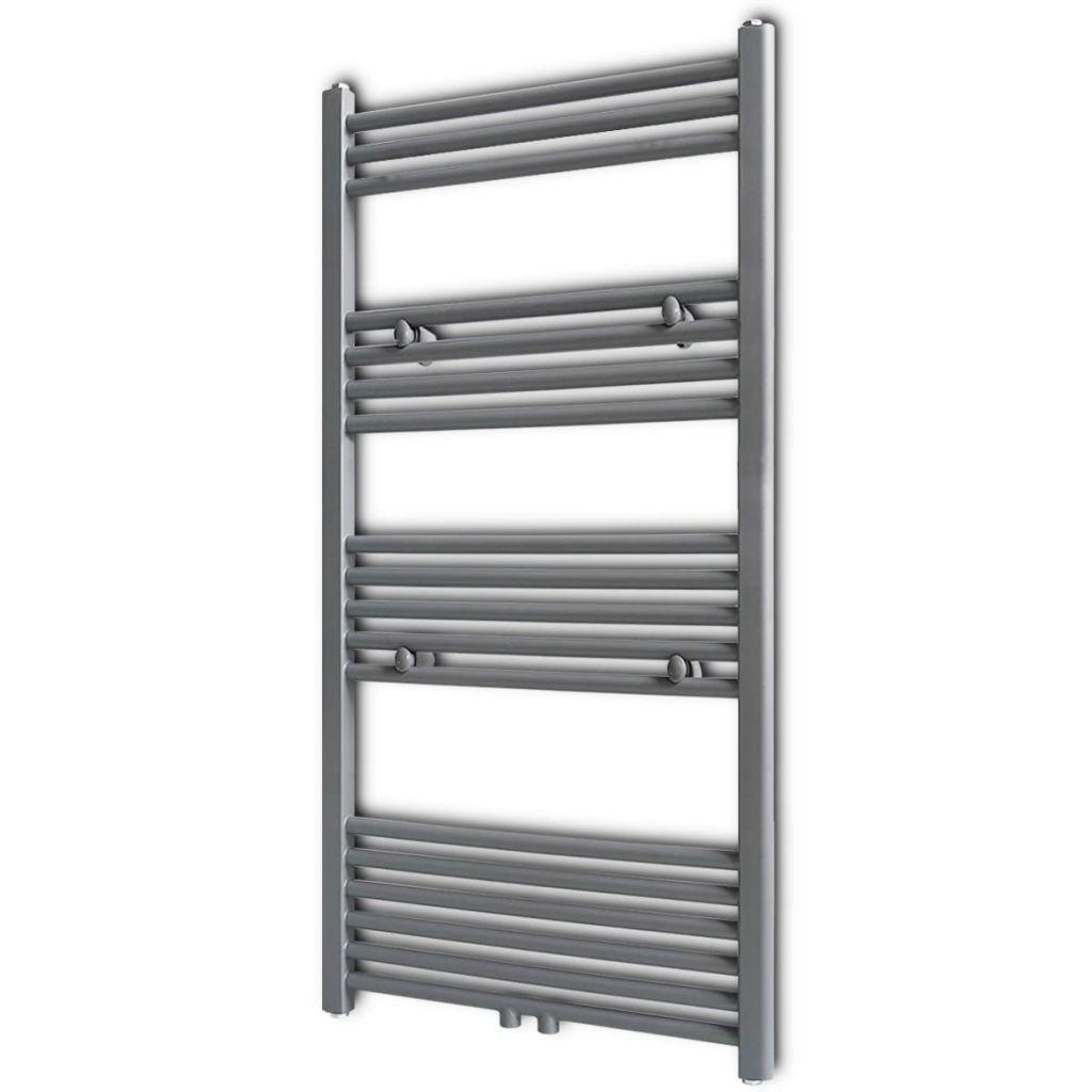 Radiateur de sèche-serviettes de chauffage central gris de salle de bains 600x1160mm droit