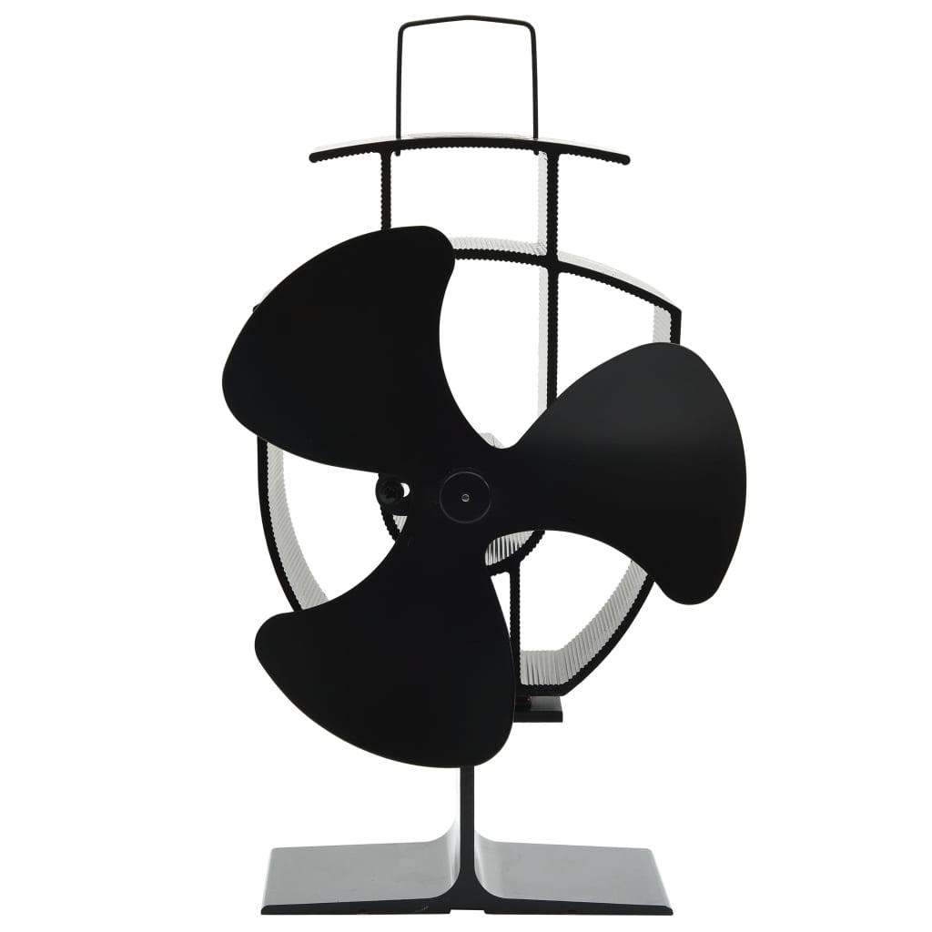 3-х лопастной вентилятор для печки с тепловым приводом, черный