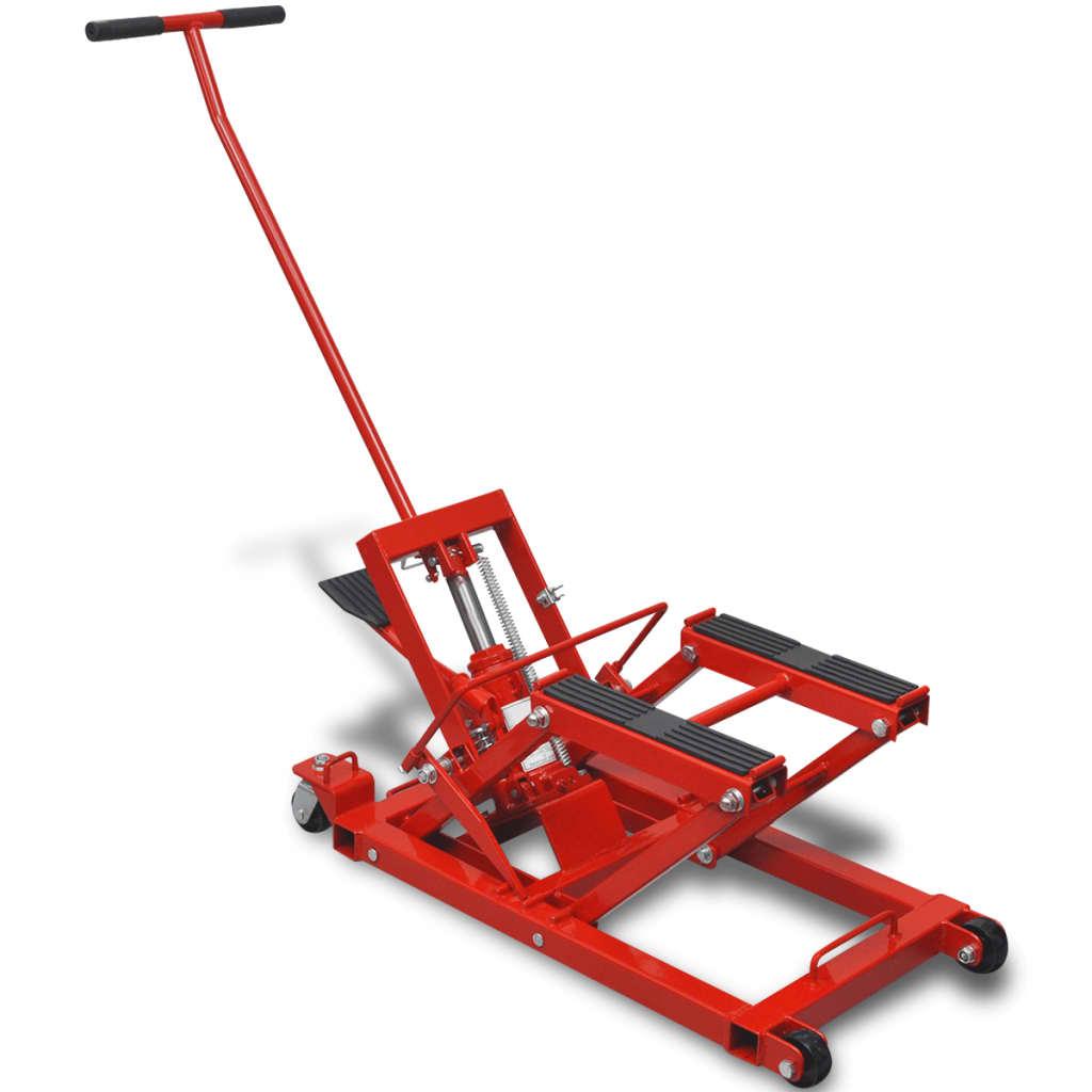 Cric hydraulique moto / VTT 680 kg rouge