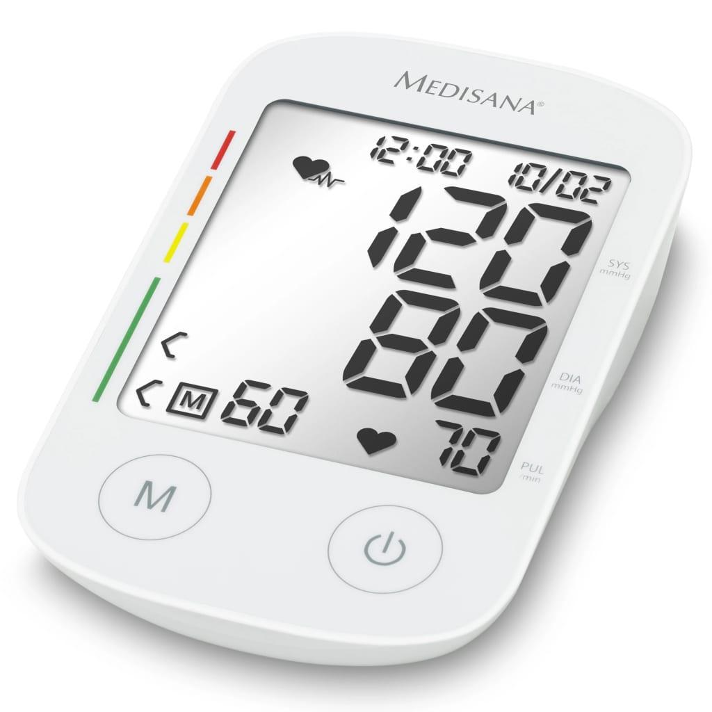 ميديسانا جهاز مراقبة ضغط الدم بأعلى الذراع مع وظيفة صوتية BU 535 صوت أبيض