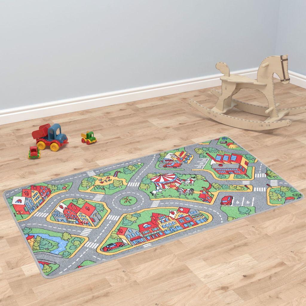 Παίξτε Mat Loop Pile 120x160 cm Μοτίβο δρόμου πόλης